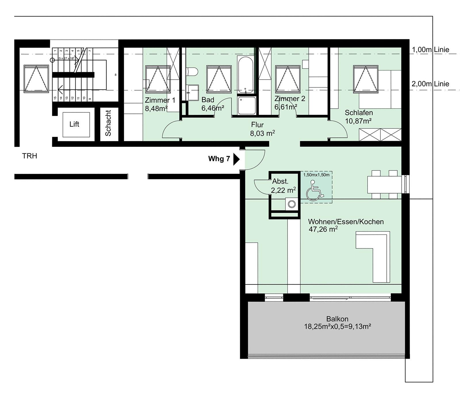 Neubau 4 Zimmer Eigentumswohnung Dg 99 M² Wehr Haus Lessing