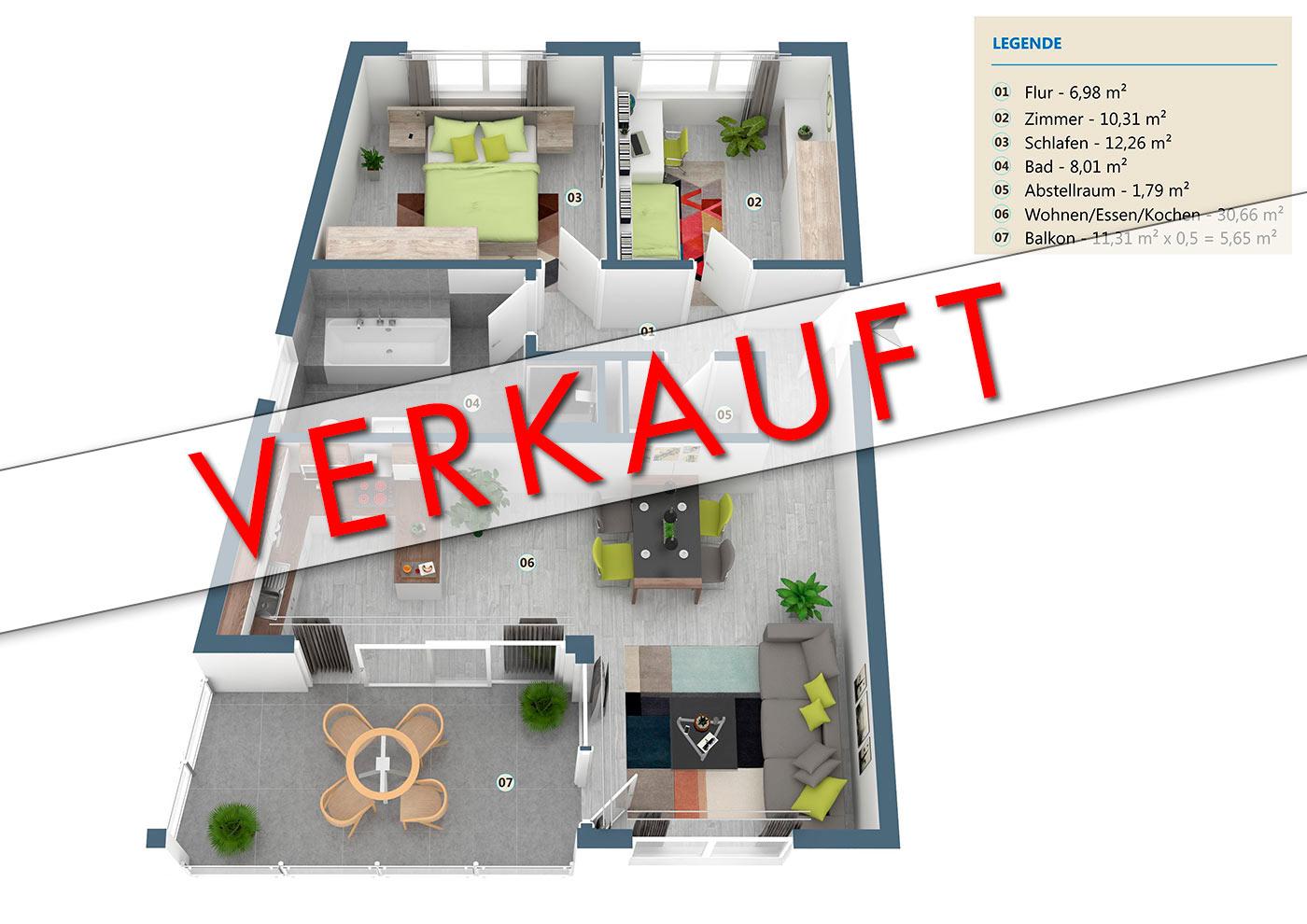 neubau 3 zimmer eigentumswohnung og nr 04 wehr. Black Bedroom Furniture Sets. Home Design Ideas